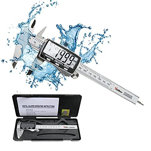 Calibro Digitale, Voldbov Calibro a Corsoio 150mm / 6 inch con Ampio Display LCD Inch/Millimete...