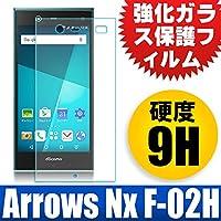 F.G.S 国産ガラス素材 Fujitsu arrows NX Docomo F-02H フィルム 強化ガラスフィルム 硬度9H F-02H ガラスフィルム F-02H フィルム arrows NX F-02H 保護フィルム F.G.S並行輸入品 [並行輸入品]