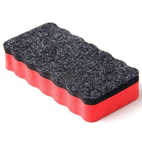 Whiteboardlöscher, magnethaftend, rot | Zur Trockenreinigung von Whiteboard, Planungstafeln, Glasboards