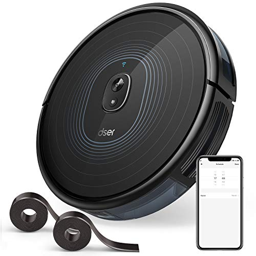 Best Price Robot Vacuum, dser 2200Pa Robotic Vacuum Cleaner, Wi-Fi Connected, 2 Boundary Strips, Sch...