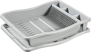 CURVER   Egouttoir à vaisselle + plateau GM - 24 assiettes, Gris, Sink Top, 48x10,5x38 cm