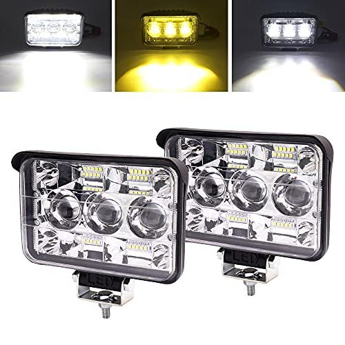 YnGia Luz de trabajo LED 2 uds, Luz antiniebla de conducción todoterreno...
