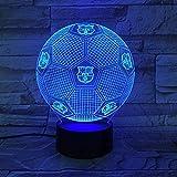 GEZHF 7 colores cambiantes luz LED manga luz fútbol Barcelona lámpara de mesa táctil 7 colorslamp para niños