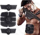 KOWE EMS Elettrostimolatore, 6 modalità Macchina Addominale Muscolare Elettronica A 10 modalità, per Uomo Donna