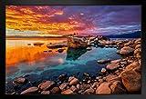 Poster Gießerei Atemberaubende Lake Tahoe Rocky Shore