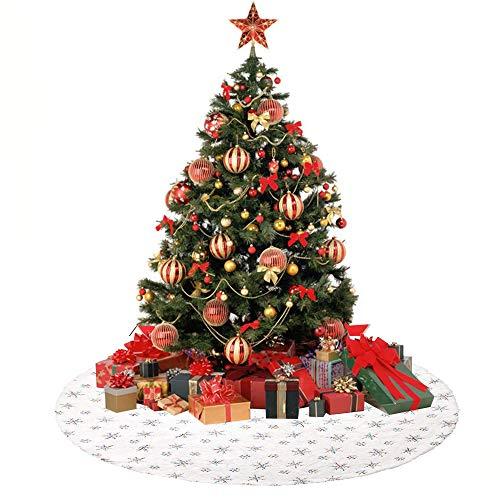 Anyingkai Tannenbaumdecke Rund Fell,Weihnachtsbaum Decken,Tannenbaumdecke Rund,Runde Filz-Baumdecke,Weihnachtsbaum Rock Korb,Weihnachtsbaumrock Fell