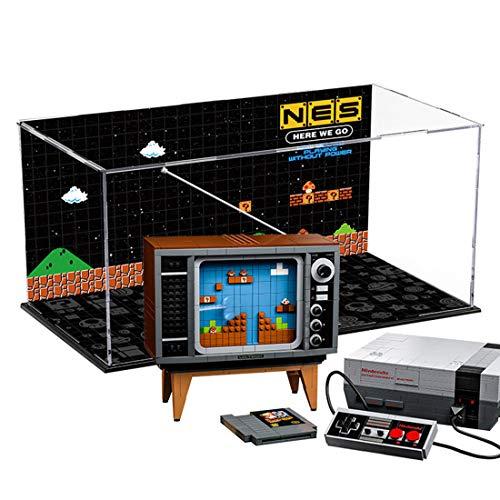 Lesdiy Schaukasten für Lego Nintendo Entertainment System 71374 Acryl Vitrine Lego 71374 (Nicht Enthalten Lego Modell)