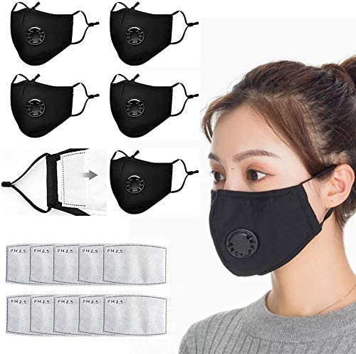 Pure cotton towel with breathing valve, activated carbon filter, replaceable filter, for adult (8 + 20) soot facial care by- rukejx