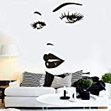 Cils stickers muraux art stickers muraux salon de beauté décoration de sourcils...