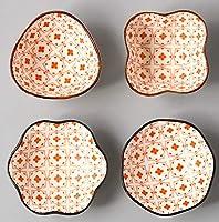 JJKEDW キッチン小さな料理は、セラミックしょうゆトレイ料理ミニ花型調味プレートをペイント食器 (Style : 17)