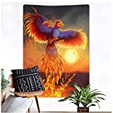 XXSCZ Wandbehang Tapisserie, Farbe Phoenix -1_XL / 175X230cm Wandteppich Psychedelic Wandbehang Boho Mandala Hippie Wandtuch Tagesdecke Bettdecke für Schlafzimmer Wohnzimmer Wohnheim