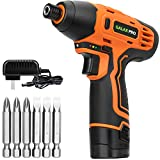 GALAX PRO 1/4' DC-12V Electric Screwdriver with Rechargeable 1.3Ah Lithium Ion Battery and 6PCS Screw Bits for Home DIY Assembling, Attaching, Fixing