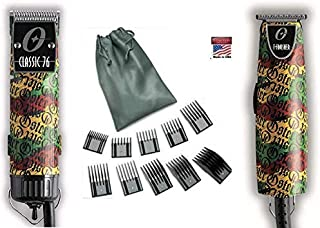Combo Limited Edition Oster 76 Rastalogy Rasta Clipper Plus T Finisher Trimmer and 10-Piece Universal Comb Guide Set