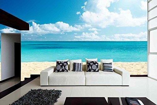 Fotomural Vinilo Pared Playa | Fotomural para Paredes | Mural | Vinilo Decorativo | Varias Medidas 150 x 100 cm | Decoración comedores, Salones, Habitaciones.
