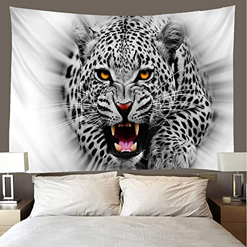 shuimanjinshan Wandteppich Wandbehänge Leopard Tapisserie Wandtuch Hausdeko Strandtuch Tagesdecke Boho Deko 180X230Cm