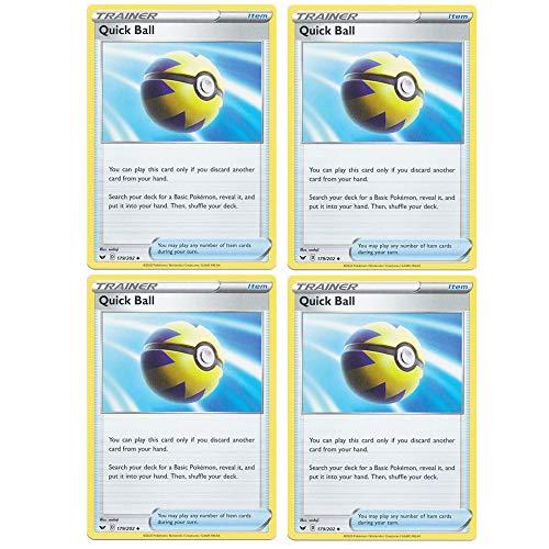 Pokemon Card - Quick Ball - Sword and Shield Base...