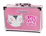 Martinelia Best Friends Forever Glitter Case - Contains 16 Eye Shadows, 3 Blush/Bronzer, 4 Glitter Nail Polishes, 2 Lipsticks