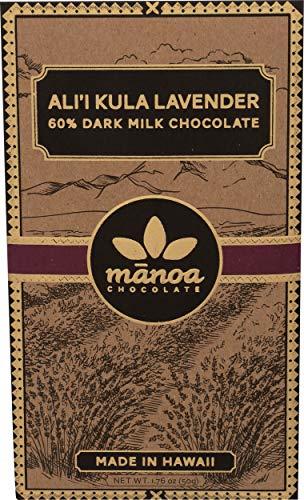 Manoa Chocolate, Bar Chocolate Lavender, 2 Ounce