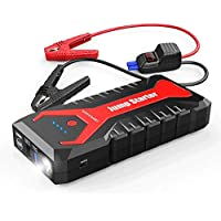 DBPOWER 2000A 20800mAh Portable Car Jump Starter with Dual USB Outputs