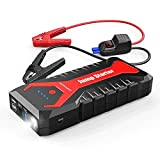 DBPOWER 2000A 20800mAh Portable Car Jump Starter (up to 8.0L Gas/6.5L Diesel Engines) Auto Battery Booster Pack with Dual USB Outputs, Type-C Port, and LED Flashlight