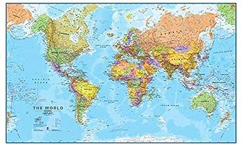 Maps International Giant World Map - Mega-Map Of The World - 46 x 80 - Full Lamination