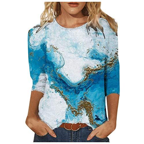 Pullover Damen Lange Oberteile Damen für Leggings ausgefallene Tunika tie dye Shirt Pullover schulterfrei Damen brauner Pullover Tshirt Frauen Strick Hoodie Tunika