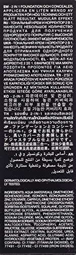 كريم اساس وخافي عيوب الوجه 2 في 1 بتغطية كاملة من كيكو ميلانو 03، كول روز 20، 106 مل