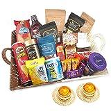 Jaiccha Ghasitaram Diwali Gifts Basket of 21 Goodies with 2 t-Lites