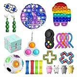 Push Pop Bubble Sensory Fidget Toy Set, Stress Relief Fidget Toy Set, Anti Stress Spielzeug Set Für...