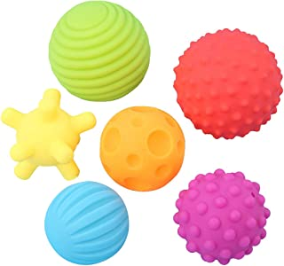 Coxeer 6PCS Infant Bath Toy Squirt Water Ball Toy Pool Toy Bathtub Toy for Toddlers Baby