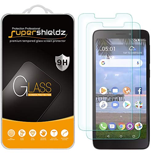 (2 Pack) Supershieldz for Alcatel TCL A1 (A501DL) and Alcatel Insight Tempered Glass Screen Protector, Anti Scratch, Bubble Free