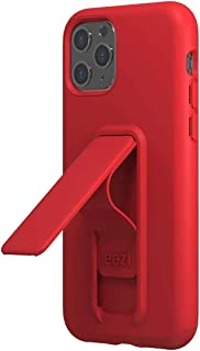 "Wild Flag Eezl Case Designed for iPhone 11 Pro (5.8"") - Slim, Tough 8 FT Drop Protected, Portrait/Landscape Kick Stand, Secure Finger-Loop Grip, Wireless Charge Compatible (US Warranty) Red"