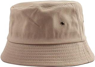 Bodhi2000 Unisex Bucket Cap Pieghevole Solido Colore Cotone Cappello Sole Pescatore Pesca Pesca Cappello