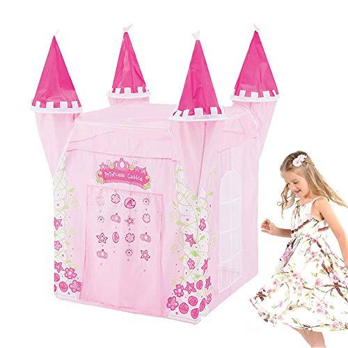 MXYPF Casa De Campaña con Diseño De Castillo De Princesas, Corona Rosa Flor Yurt Carpas Plegables para Niños con Mochila, Regalo para Niñas Niños Interiores