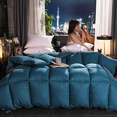 Miwaimao Winter 95% White Goose Down Duvet To Keep Warm Thick Quilt Gifts Customers Are The Core Hotel,Blue,180x220cm