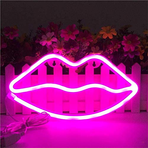 Letreros de neón con forma de labios Led Luz de Neón Arte Luces Decorativas Decoración de la pared para niños Habitación del bebé Decoración del banquete de boda de Navidad