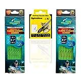 MiRoeFishing Juego profesional de anzuelos con sedal de fluoro-carbono para pesca de trucha. 20 anzuelos incluidos Sbirolino.