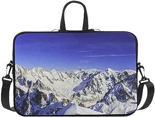 Mont Blanc Chamonix View Aiguille Du Briefcase Laptop Bag Messenger Shoulder Work Bag Crossbody Handbag for Business Travelling