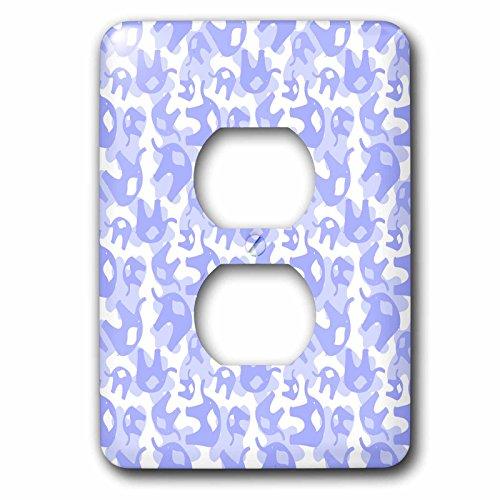 3dRose lsp_53531_6 Double Lavender Elephants Outlet Cover