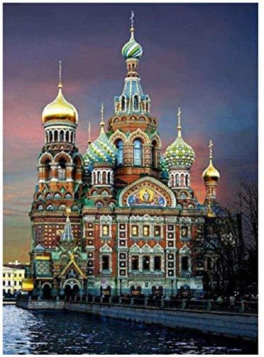 1000 piezas rompecabezas para adultos, rompecabezas de madera de la iglesia rusa juego educativo clásico juguetes