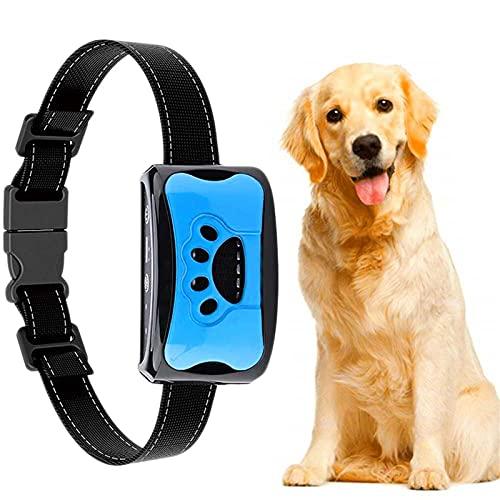 Koaiya Anti-Bell-Halsband, Erziehungshalsband Hund Nylon Halsband Hundehalsbänder mit Vibration, Sound Automatisches Anti-Bell-Hundehalsband für Kleine, Mittelgroße und Große Hunde Stoppt Bellen