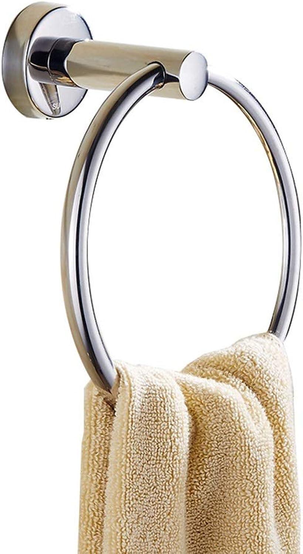 Towel Ring - Stainless Steel Towel Ring Bathroom Hardware Accessories Bathroom Towel Hanging Ring Stainless Steel Bathroom Towel Ring Free Punch Ring - Towel Ring HATHOR-23 2563