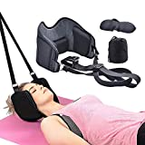 Neck Hammock, Head Hammock Cervical Traction Device Neck Pain Relief and Physical Therapy Can Relax Neck and Shoulders,Durable Elastic Double Safety Rope Best Gift for The Headrest Stretcher Paren