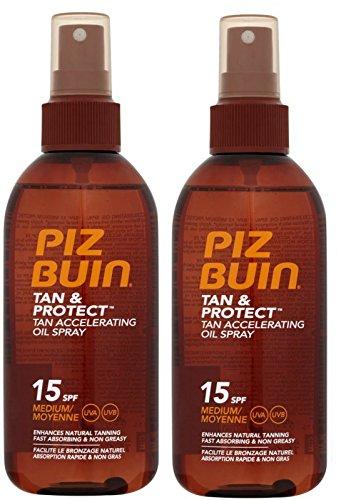 Piz Buin bronzage accélération huile pulvérisateur F15 (paquet de 2) 150ml
