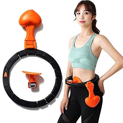 ZNN Aros Deportivos Yoga Cintura Ejercitador Aro - Portátil Desmontable Vientre Abdominal Entrenador Muscular Pérdida de círculo Peso Fitness Equipment