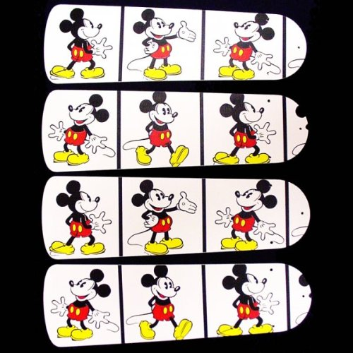 Ceiling Fan Designers 42SET-DIS-DMMW Disney Mickey Mouse no.2 42 in. Ceiling Fan Blades Only