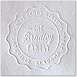 Shiny Custom Embosser - Personalize with Initials & Text - Hand-Held Embossing Stamp - Mon...