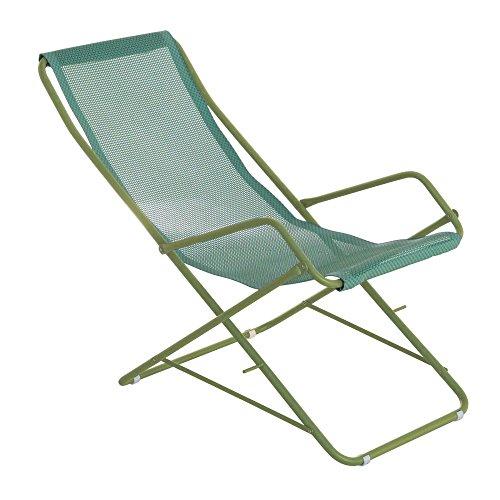 Bahama Liegestuhl, minz grün Sitzfläche EMU-Tex minz BxHxT 58x95x108cm Gestell Stahl grün