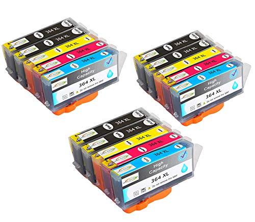 15 Paquetes de reemplazo Wintinten para Cartuchos de Tinta HP 364 364XL compatibles con HP Photosmart C5324, C5370, C5373, C5380, C5383, C5388, C5390, C5393, C6300, C6324, C6380