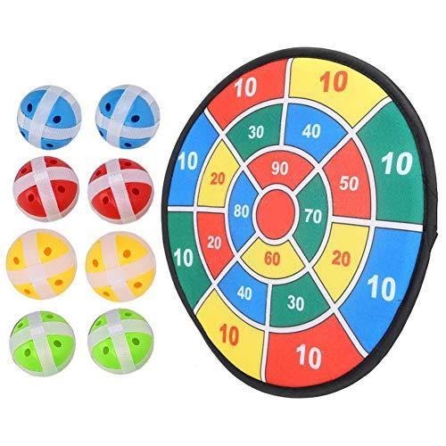 Yajun Kinder Fabric Dartscheibe Ziel Sportspielzeug Sicher Dartscheibe Set Familie Eltern Hängen Outdoor Dart Spiel mit 8 Bällen